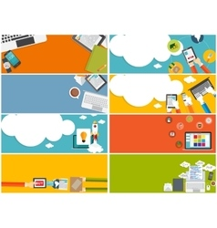 Modern Flat Design Banner Set for your Business vector image