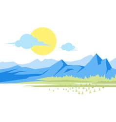 Mountain Landscape vector image