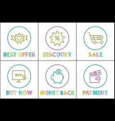 online buy and sale shopping concept vector image