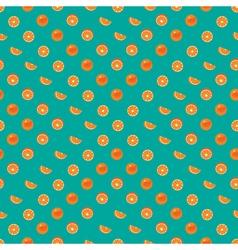 Orange with peel and orange slice seamless vector