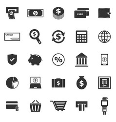 payment icons on white background vector image