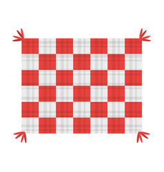 Picnic blanket isolated vector