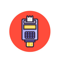 pos terminal point sale concept payment by vector image
