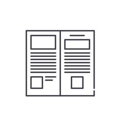 press release line icon concept press release vector image