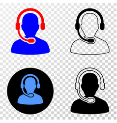radio operator eps icon with contour vector image