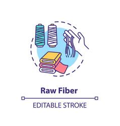 Raw fiber concept icon vector