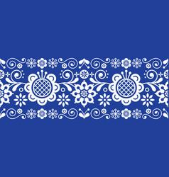 Scandinavian folk art retro long pattern vector