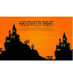 scary castle landscape halloween day vector image