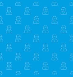 scientist pattern seamless blue vector image