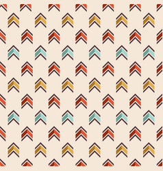 Seamless colorful pattern of arrows vector