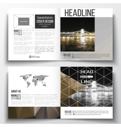 Set annual report business templates vector