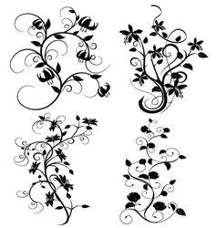Set flourishes vector