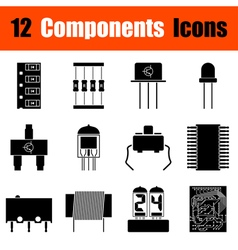 Set of electronic components icons vector image
