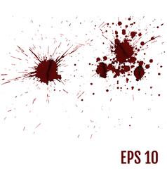 set of various blood or paint splatters set of vector image