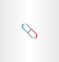 sickness capsule logo sign vector image