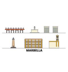 spain marbella flat landmarks vector image