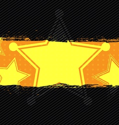 star grunge banner design vector image