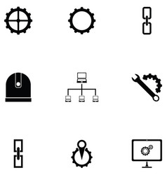 System icon set vector