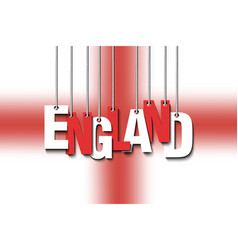 The word england hang on the ropes vector