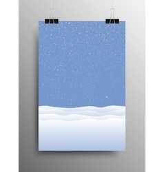 Vertical Poster Snow drift Christmas New Year vector