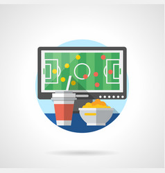 view football matches color detailed icon vector image