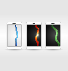 wallpapers futuristic mobile phone vector image