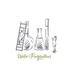 water chemical science lab scientific vector image