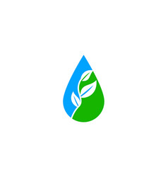 waterdrop leaf logo vector image