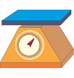 Weigh scales icon cartoon of vector