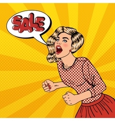 Woman Shouting Sale Big Sale Poster Pop Art vector