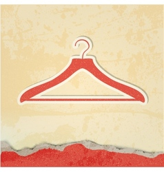 clothes hanger retro poster vector image