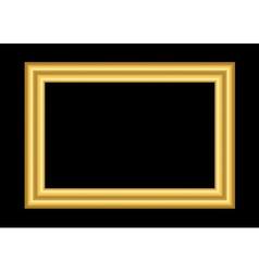 Gold frame simple golden black vector