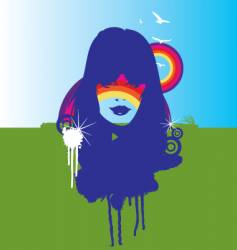 nature and the rainbow illustration vector image vector image