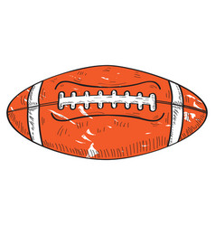 retro football ball vector image vector image
