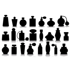 silhouettes of perfume vector image vector image