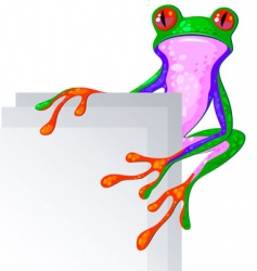 bright frog vector image vector image