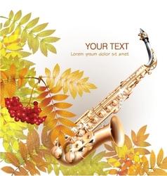 Classical saxophone alto vector image vector image