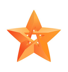 Impossible star 3d for your project icon or logo vector