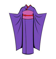 japanese kimono icon cartoon vector image vector image