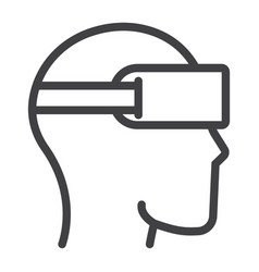 virtual reality glasses line icon game vector image vector image