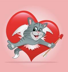 cat Valentine vector image vector image