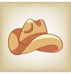 Doodle of a cowboy hat vector image