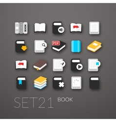 Flat icons set 21 vector image