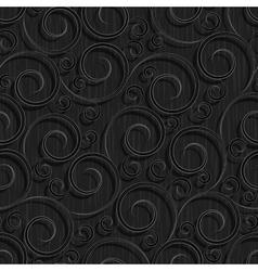 seamless black floral wallpaper pattern vector image vector image