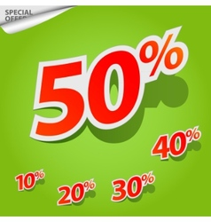 Set of labels percent vector