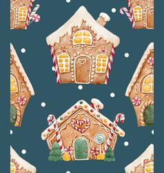 Watercolor christmas pattern vector