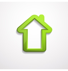 3d house icon vector image