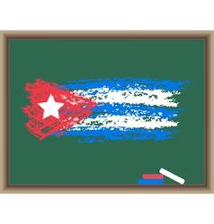 chalk flag of cuba vector image vector image