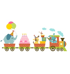 Happy train vector