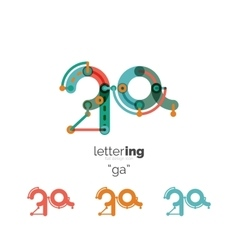 Letters logo icon vector image